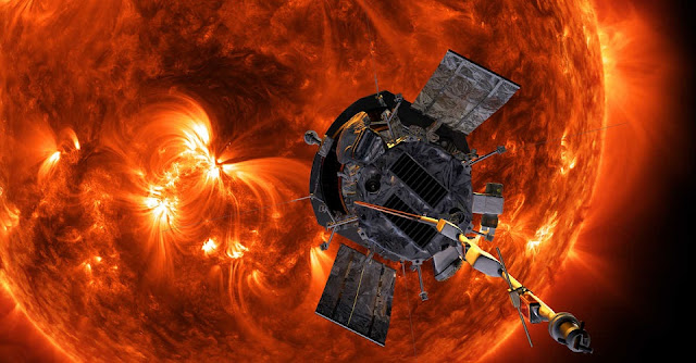 Using data from NASA's Parker Solar Probe, an SwRI-led team identified low-energy particles, the smoking gun pointing to interactions between slow- and fast-moving regions of the solar wind accelerating high-energy particles from beyond the orbit of Earth. Using Integrated Science Investigation of the Sun (ISIS) instrument data, they measured low-energy particles in the near-Sun environment that had likely traveled back toward the Sun, slowing against the tide of the solar wind while still retaining surprising energies. Credit: NASA/Johns Hopkins APL/Steve Gribben