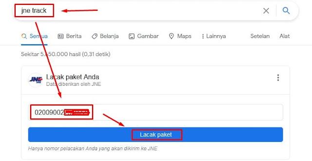 JNE Track Google