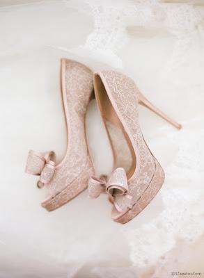 Zapatos de Novia Rosados
