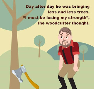 The story of a woodcutter - Motivation