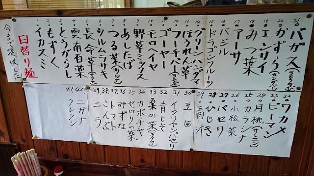 麺工房島風の食材リストの写真