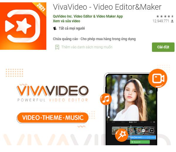 Ứng dụng VivaVideo - Trình tạo và chỉnh sửa video tốt nhất a