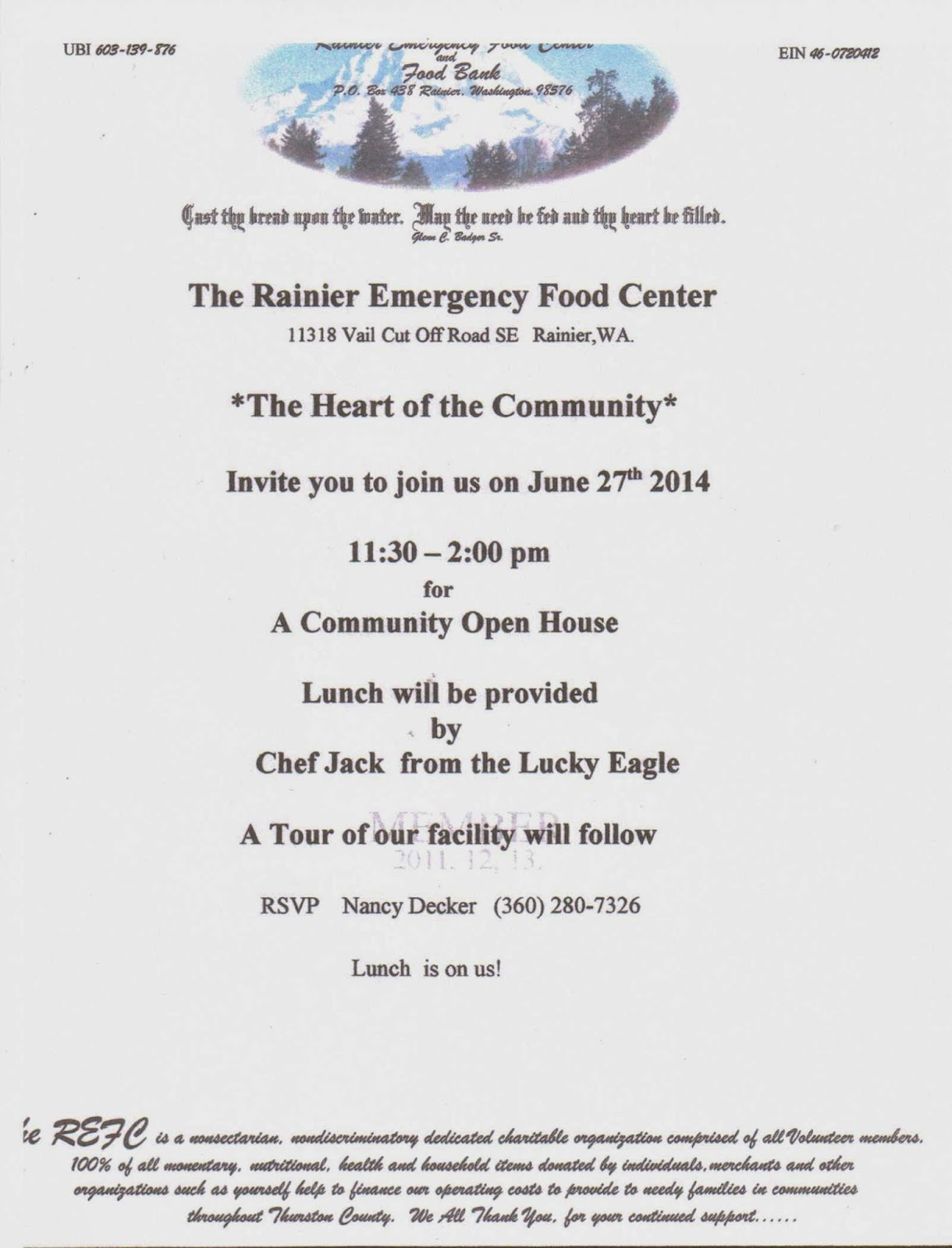 Yelm Community Center Food Bank