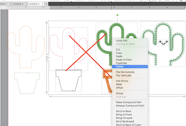 Applique, Embroidery, Designer Edition Plus, Silhouette Studio, PES file