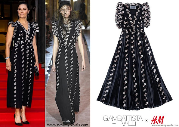 Crown Princess Victoria wore Giambattista Valli x HM Chiffon Dress With Lace