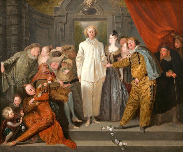 Jean-Antoine Watteau (1684-1721) Les Comédiens Italiens, 1720 Huile sur toile, 63,8x 76,2cm National gallery of Art, Washington DC