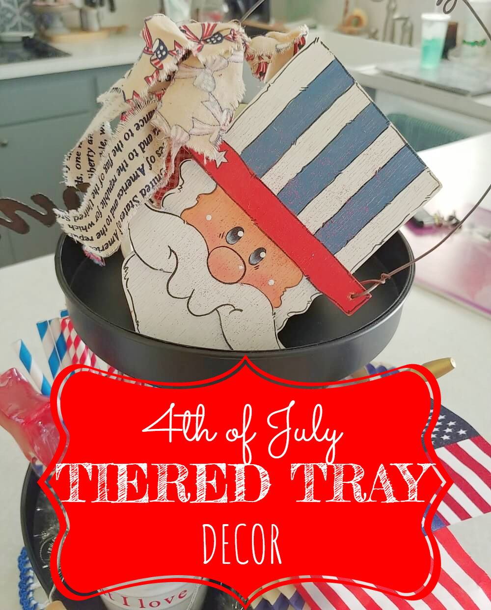 4th of July Tiered Tray