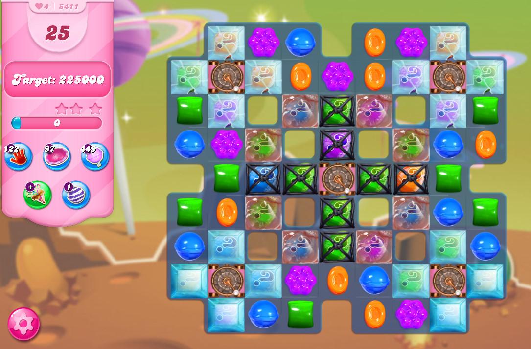 Candy Crush Saga level 5411