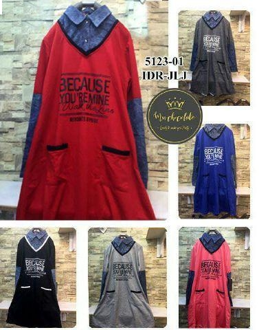 Jual Tunik Dress Because You Remine - 12712