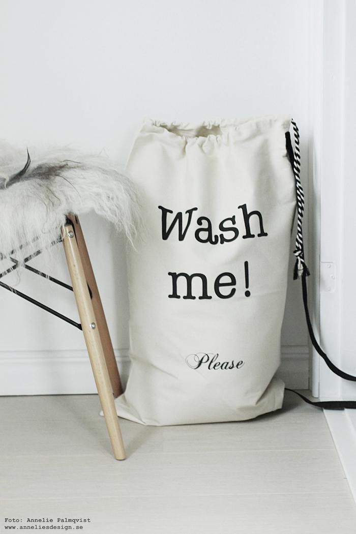 bag all, annelies design, påse, påsar, väska, väskor, tvätt, tvättpåse, tvättstuga, fårskinn, inredning, webbutik, webbutiker, webshop, nätbutik, nätbutiker, svart och vitt,