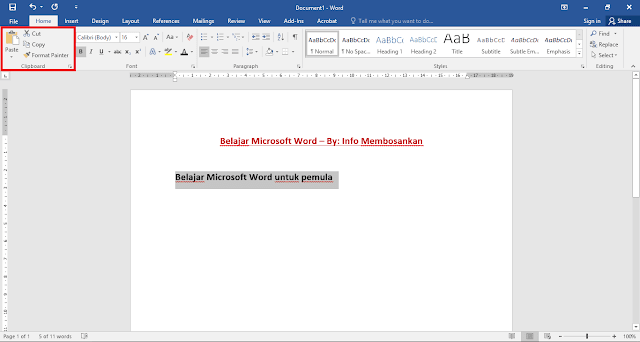 Bagaimana cara untuk menyalin dan menduplikat sebuah teks