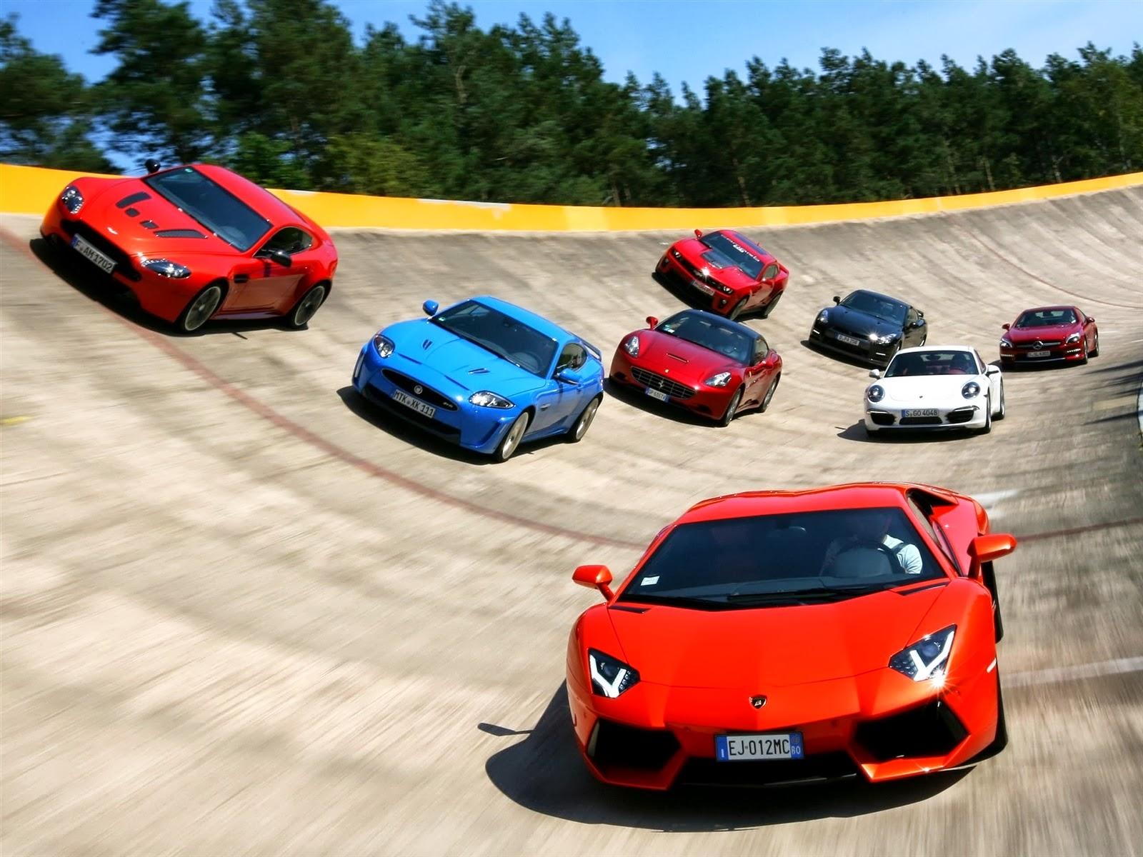 Track A Car: Car Walpaper: Famous Sports Car Race Track Wallpaper Wallpaper