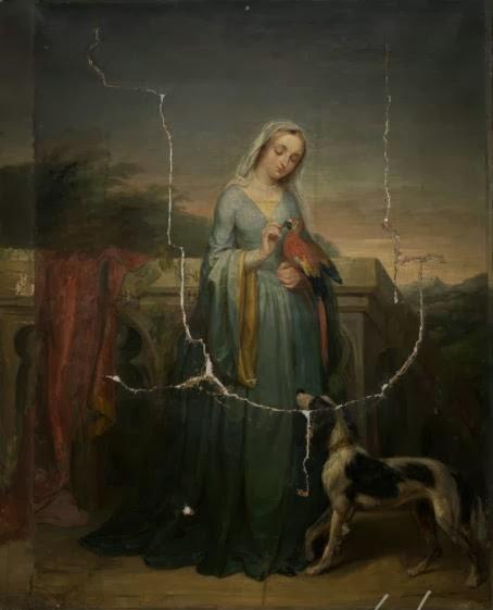 Dame Avec un Perroquet, Fanny Corr Geefs