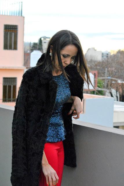 outfit, mislooks, consejos, zara, jazmin chebar, como llevar pantalon fucsia, como vestir, como llevar blusa azul, asesora de imagen, asesoria de imagen, como vestir de fiesta, look de fiesta, outfit de fiesta