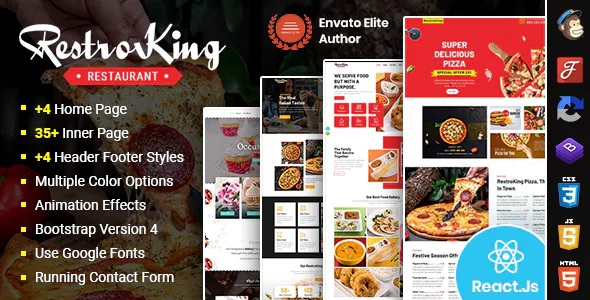 Best Cake Pizza and Bakery React Template