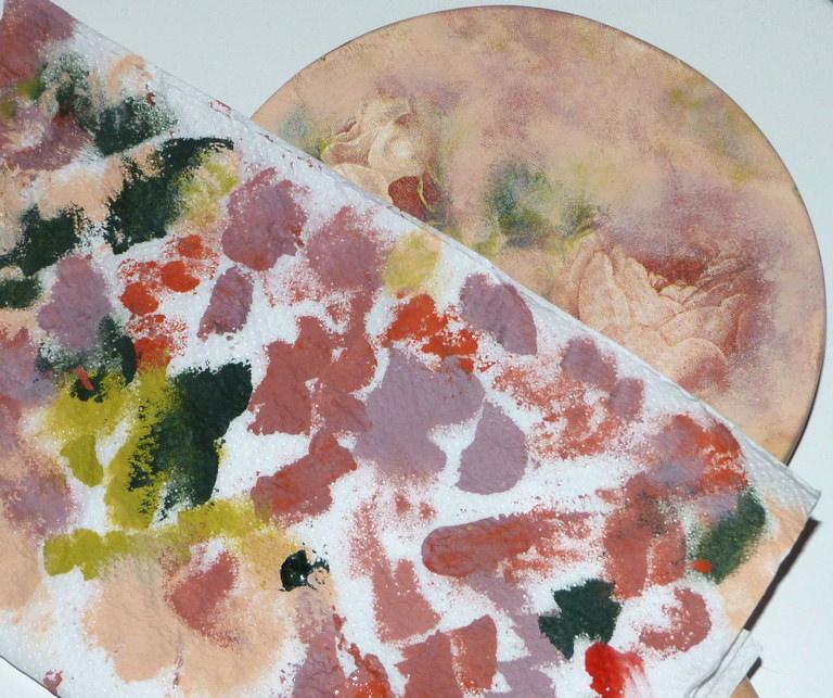 Decoupage en zinc y madera isabel vintage - Pintura para decoupage ...