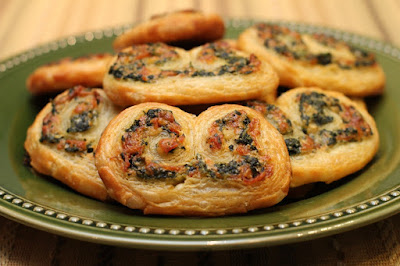 Spinach, Cheese & Pepperoni Palmiers