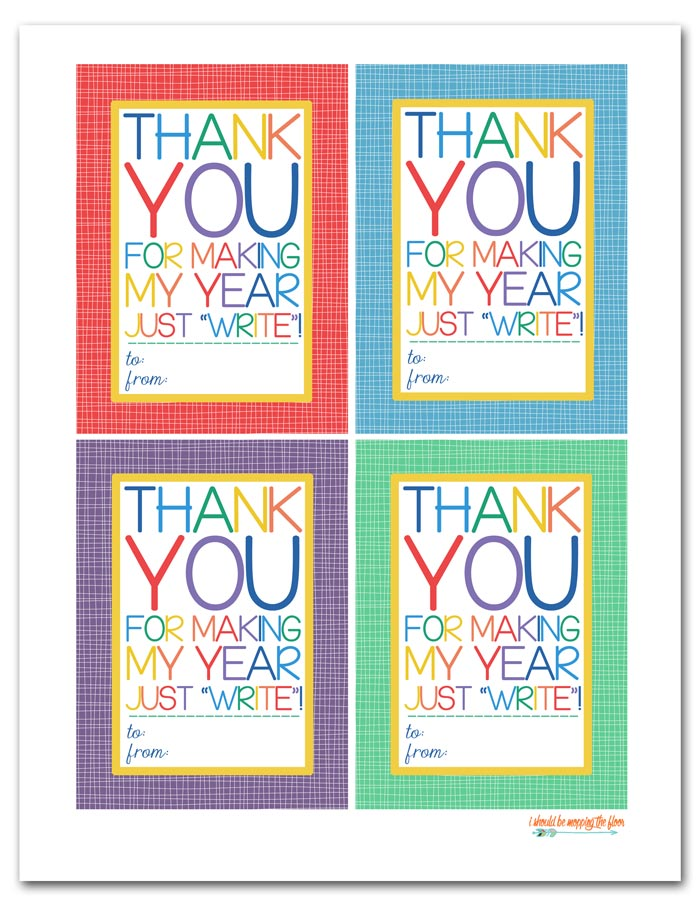 photo regarding Thank You Printable Tag called Cost-free Printable Instructor Appreciation Tags i need to be