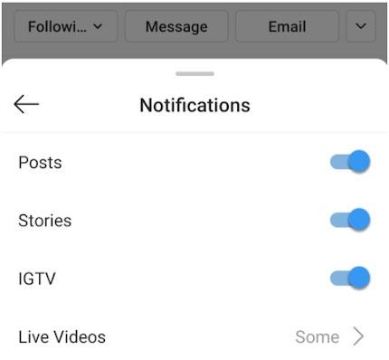 Instagram push notification
