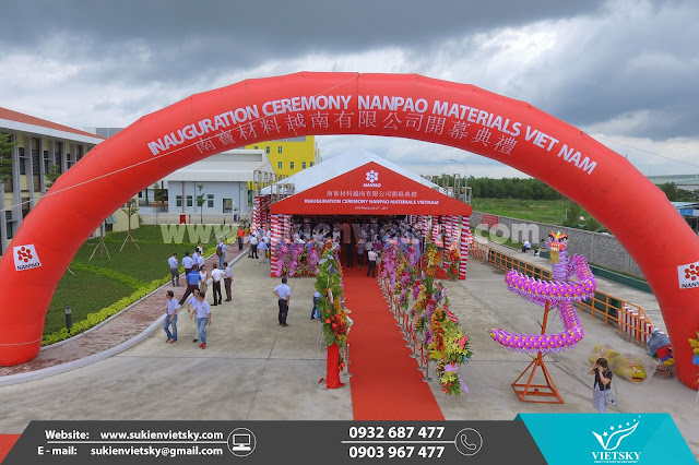 Khánh thành, Tổ chức lễ khánh thành nhà máy Nanpao Materials Việt Nam