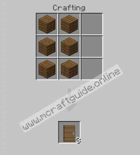 How To Make Spruce Door In Minecraft