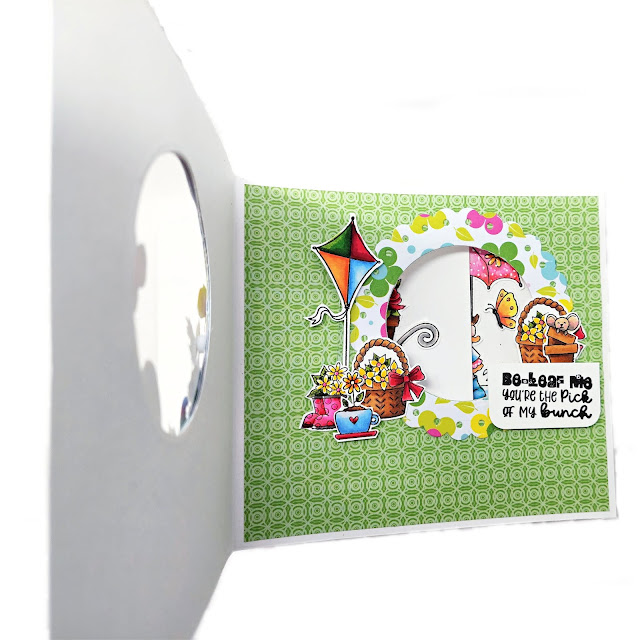 Polkadoodles  Sunshine Friends - slider card by Lou Sims