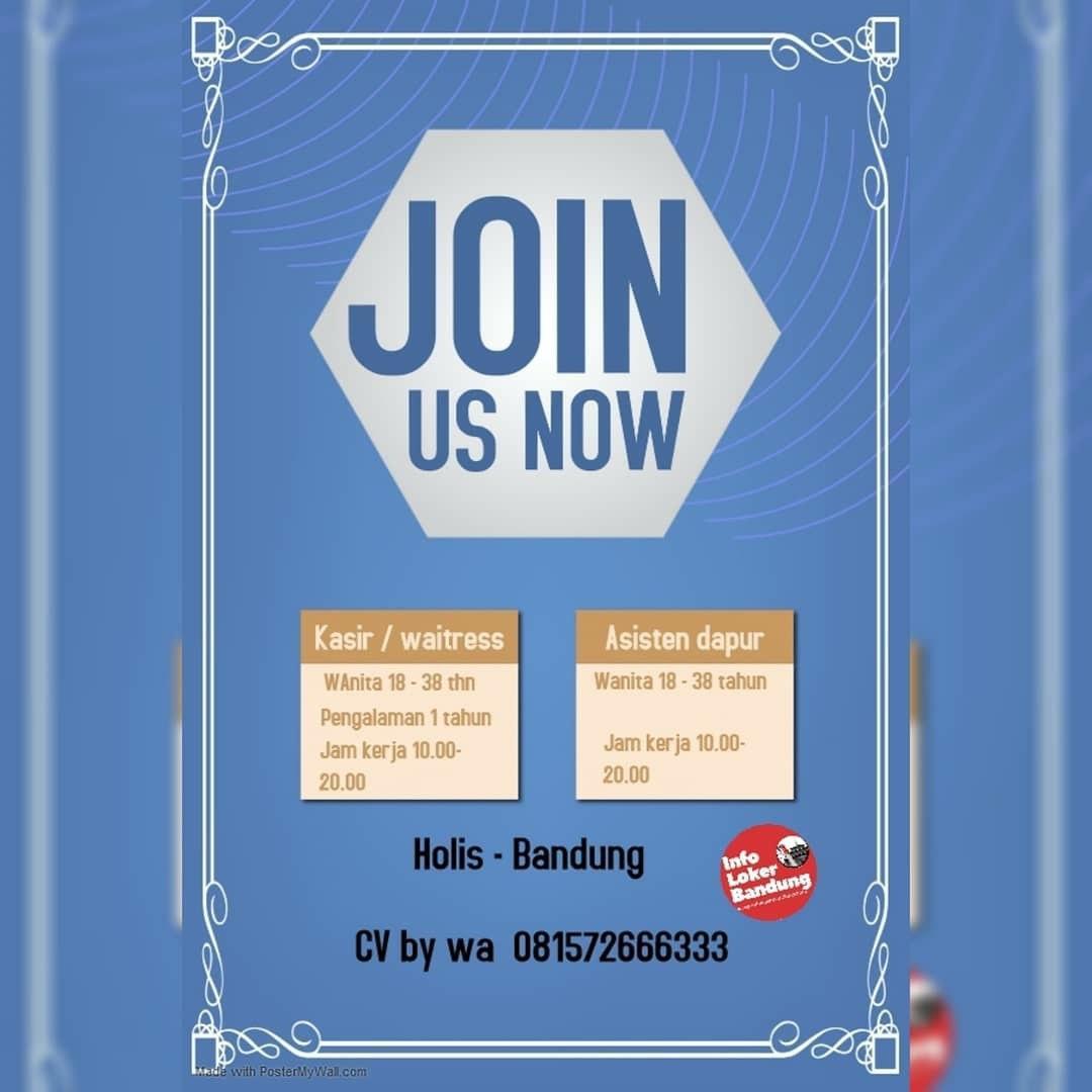 Lowongan Kerja Pelayan, Kasir dan Asisten Dapur Restoran Holis Bandung Februari 2020
