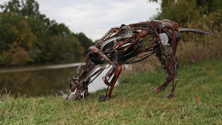 Скульптуры из отходов. Sayaka Ganz 3