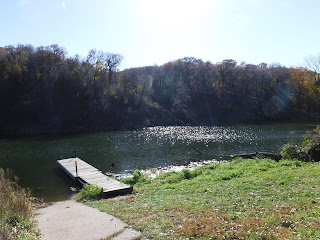 fishing dock at Turtle Lake in Stone State Park in Sioux City, Iowa
