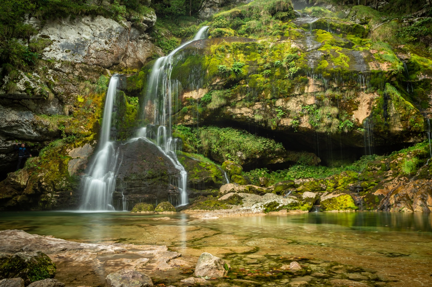 Slap Wodospad Virje - Słowenia Dolina Soczy
