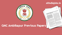 GMC Ambikapur Assistant Librarian Previous Papers