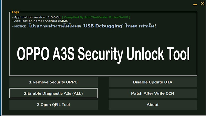 OPPO A3S Security Unlock Tool - Special For Remove Password