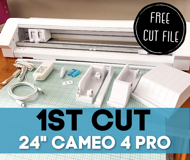 "Silhouette 101, Silhouette America Blog, 24"" Silhouette Pro, Silhouette CAMEO 4 Pro, First Cut"