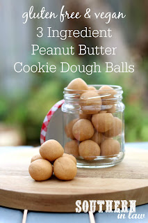3 Ingredient Peanut Butter Cookie Dough Balls Recipe