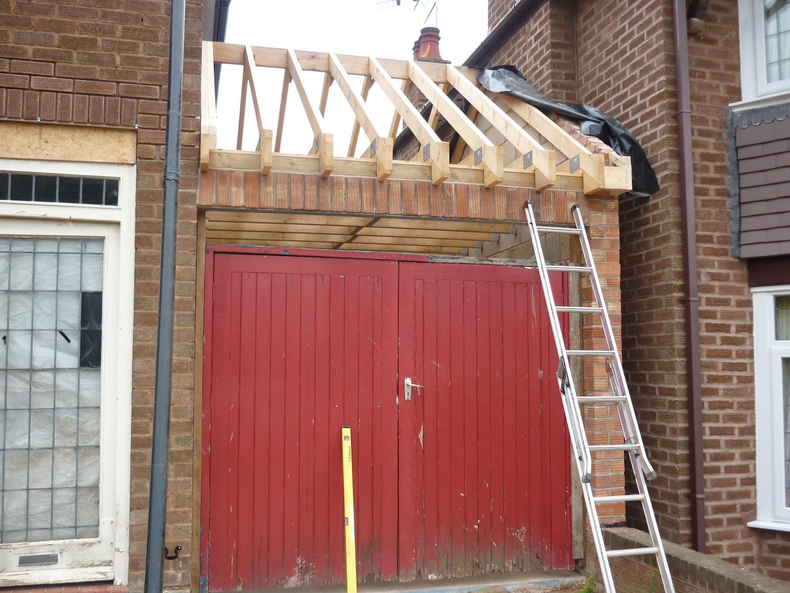 Hillside Renovation 27 The Garage Gets A Roof