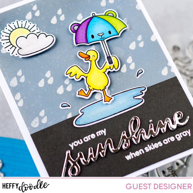 You are my Sunshine Card for Heffy Friends Blog Hop by ilovedoingallthingscrafty.com