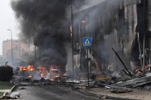 Αεροσκάφος με 8 επιβάτες συνετρίβη στο κέντρο του Μιλάνου