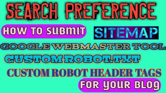 How to setup my Blog search preference