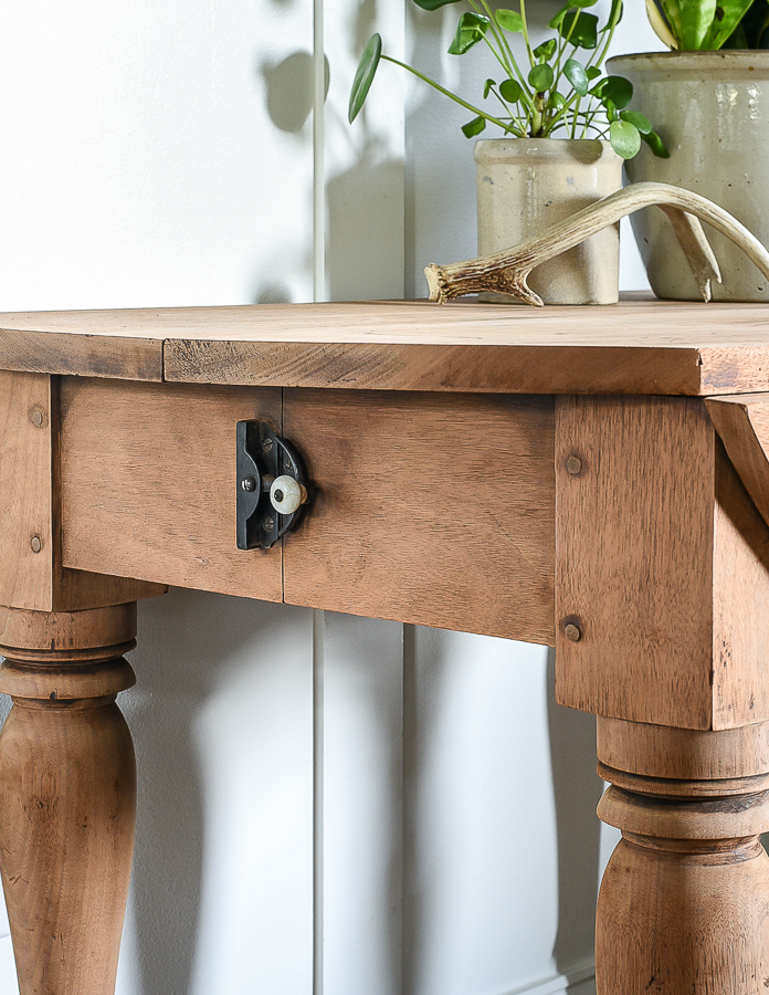 Antique raw wood table
