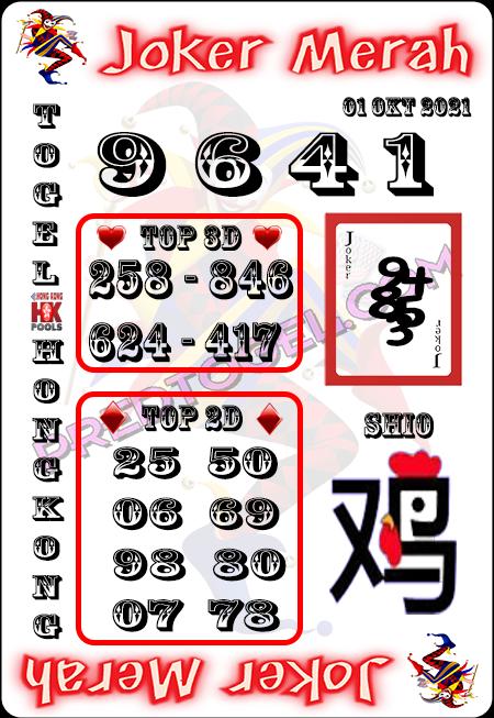 Prediksi Joker Merah Togel HK Jumat 01-10-2021