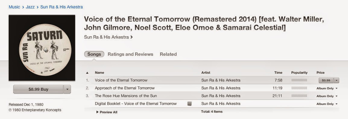 19800917 RLC2 327 Voice of the Eternal Tomorrow [2014 Remaster El Saturn Records 91780] Squat Theater; New York, NY