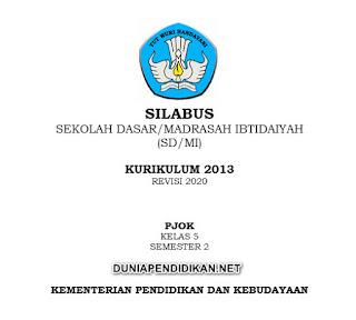 Silabus PJOK Kelas 5 SD/MI Semester 2 K13 Revisi 2021
