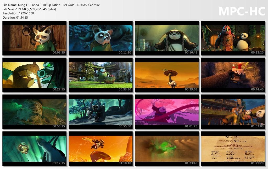 capturas pelicula Kung Fu Panda 3 latino