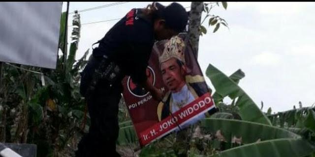 PDIP Demak Buru Pemuda Jepara, Penyebar Stiker 'Raja Jokowi' di Angkot