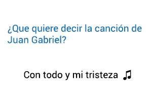 Significado de la canción de Juan Gabriel Con todo y mi tristeza.