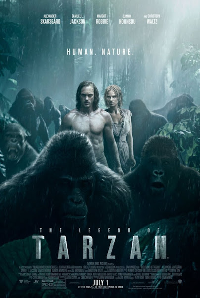 Poster of The Legend Of Tarzan 2016 720p Hindi HC HDRip Dual Audio Download
