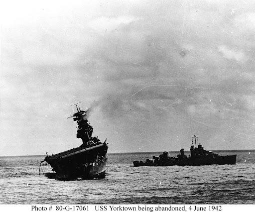 USS Yorktown sinking, 4 June 1942 worldwartwo.filminspector.com