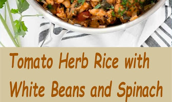 Tomato Herb Rice with White Beans and Spinach