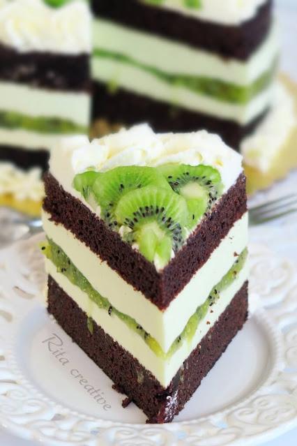 Tort czekoladowy z kiwi