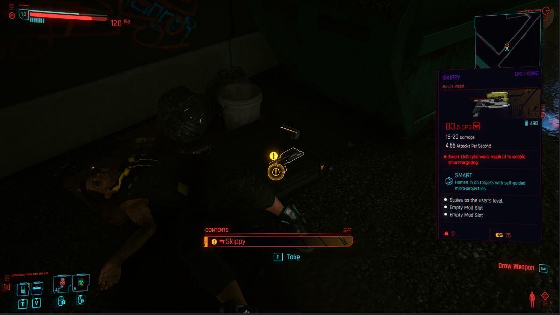 How do I get the Skippy talking pistol Screenshot 1